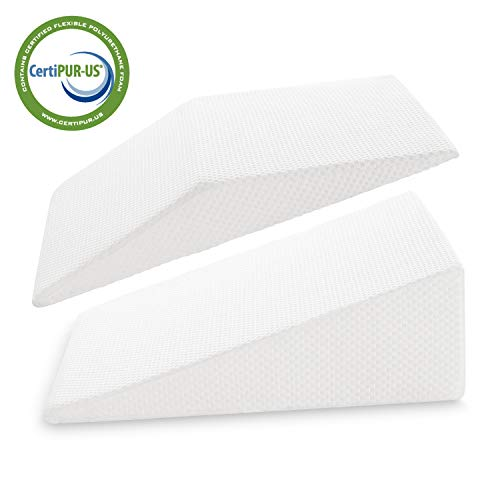 Cheap JOYPEA Wedge Pillow Set 3 in 1- Foam Bed Wedge Pillow Reading Pillow  Back Support Wedge Pillow - for Back and Legs Support, for Back Pain, Leg Pain, Pregnancy, Joint Pain(White) back wedges