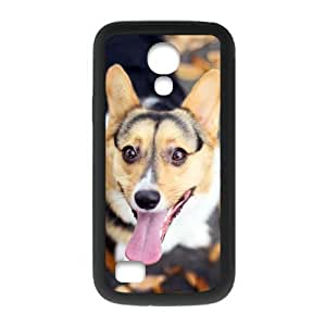 Cute Wolf Personalized Custom Phone Case For SamSung Galaxy S4 mini (Laser Technology) Plastic And TPU Case Cover Skin