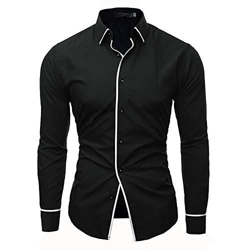 Black XXXL Men's Basic Shirt  Solid colord