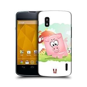 Full Pig Square Face Animal Design Back Case Cover For Lg Nexus 4 E960