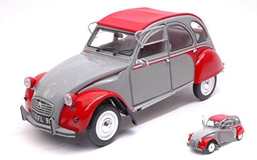 CITROEN 2 CV DOLLY 1985 grigioE & rosso 1 18 - Solido - Auto Stradali - Die Cast - Modellino