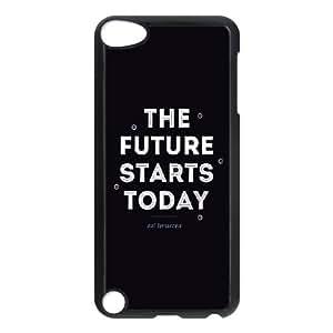 iPod Touch 5 Case Black quotes future starts today OJ615682