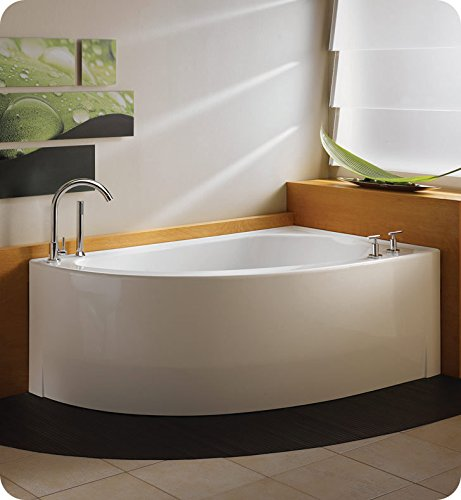 NEPTUNE WIND 60 CORNER SOAKER TUB, LEFT DRAIN, 59-7/8