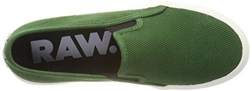 Nuri Deep Cordones RAW 8887 para Strett Negro On Hombre Green Zapatillas G Star Slip sin 6Pn007