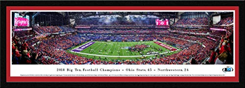 2018 Big Ten Football Champions - Ohio State Buckeyes - Single Mat, Select Framed Print by Blakeway Panoramas