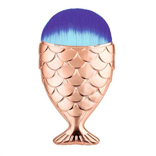 tenworld-1pc-fish-scale-makeup-brush-fishtail-bottom-brush-powder-blush-makeup-cosmetic-brush-rose-g