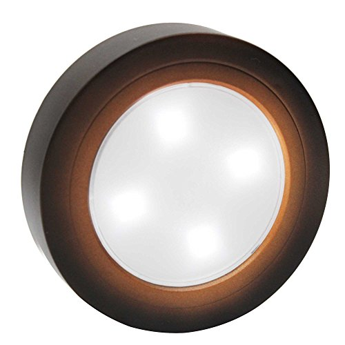 Closet Light Super Bright Tap Light Battery Operated LED Push Puck Night Light Touch Stick on Lights for Closet Cabinet Bedroom Storage Shed Hallway Stair Shelf Car(Copper/Natural White) (Push Lights For Closet)