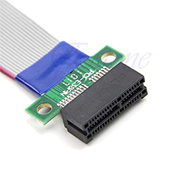 Cable Length: 17cm Computer Cables Gold Plated Contacts 1PC PCI-e PCIe Riser Card Extender Extension Ribbon Cable