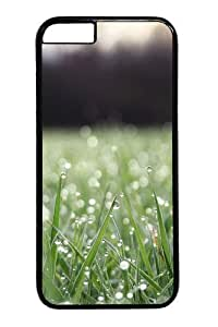Grass water drop PC Case Cover for iphone 4 4s inch Black