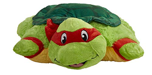"41VNwQibF%2BL - Pillow Pets Nickelodeon Teenage Mutant Ninja Turtles Stuffed Animal Plush Toy 16"", Raphael"