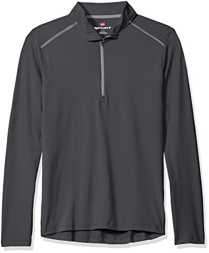Hanes Men's Sport Performance Quarter-Zip Pullover, Stealth, L