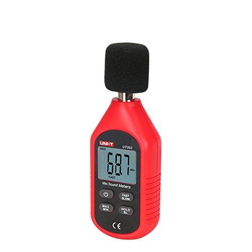 Mini LCD Display Digital Sound Level Meter Noise Measuring Instrument Decibel Monitoring Tester 30-130dB CTI UT353