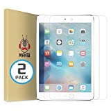 (2 Pack) MANTO Screen Protector for iPad Mini 5 (2019) and iPad Mini 4 Tempered Glass Film 9H Hardness Anti-Scratch 7.9 Inch