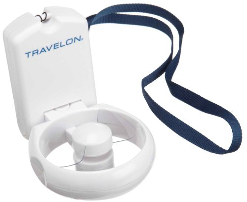 Travelon 3-Speed Folding Fan,White,One Size