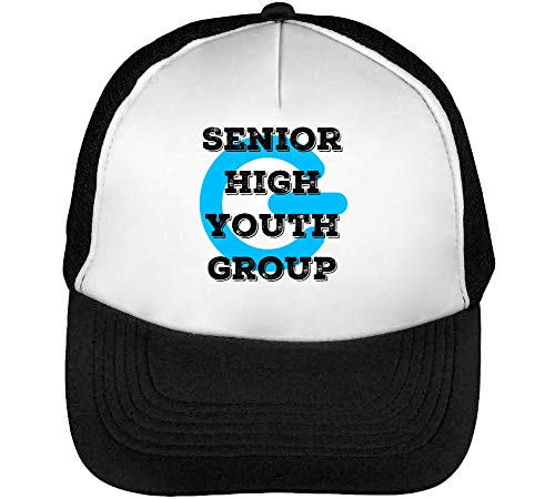 Senior High Youth Group Gorras Hombre Snapback Beisbol Negro Blanco