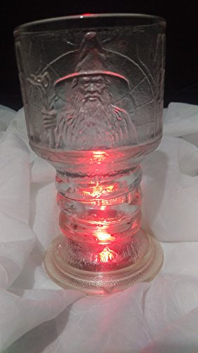 The Lord of The Rings ''The Fellowship of The Ring'' GANDALF Glass Goblet by New Line Production, Inc. (Image #7)