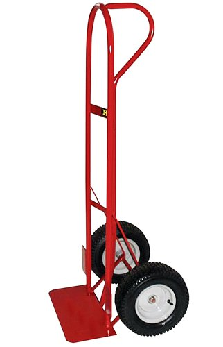 Milwaukee Hand Trucks 48866 Heavy Duty P-Handle Truck with 12-Inch Pneumatics Tires, 18-Inch Toeplate and Wheel Guards (And Trucks For Wheels Tires)
