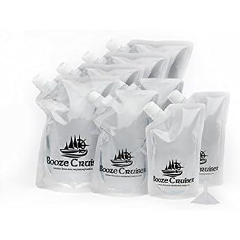 Amazon Com Cruise Runners Brand Ship Kit Flask 8 Pack Sneak Alcohol Runner Rum Liquor Smuggle