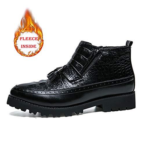 con Scarpe EU Warm shoes opzionale frange classiche Stivaletti uomo Pelle cuciture Dimensione Eleganti Color caldo Warm Uomo casual da Xiaojuan Black Black eleganti classiche 38 Scarpe 8nqxgvpqd
