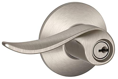 Schlage Lock Company F51ASAC619 Sacramento Entry, Satin Nickel (Nickel Single Residential Satin)