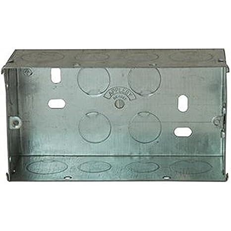 2 Gang 47 mm eléctrico Parte trasera cajas/cajas de montaje, 2 GANG 47