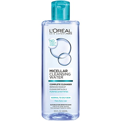 L'Oreal Paris Micellar Cleansing Water Oily Skin Facial Cleanser & Makeup Remover, 13.5 fl. oz.