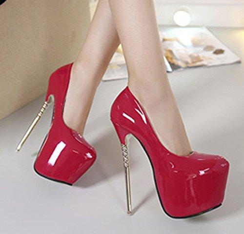 En Plateforme Vernis Femme Rouge Mode Chaussures Aisun Escarpins 4fn6SgWq
