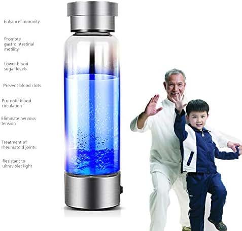 350ml Hydrogen Rich Water Generator Alkaline Energy Glass Bottle Anion Water Ionizer USB H2 Healthy Smart Cup