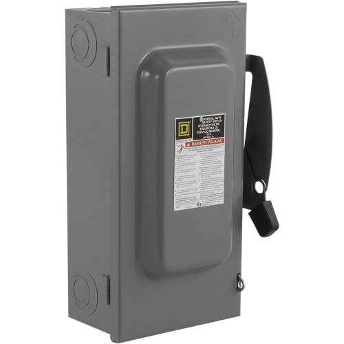 Square D by Schneider Electric D223N 100-Amp 240-Volt Two-Pole Indoor General Duty Fusible Safety Switch with Neutral