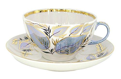 Lomonosov Porcelain Cup and Saucer Set 2pc Moonlight 8.45 oz/250 ml