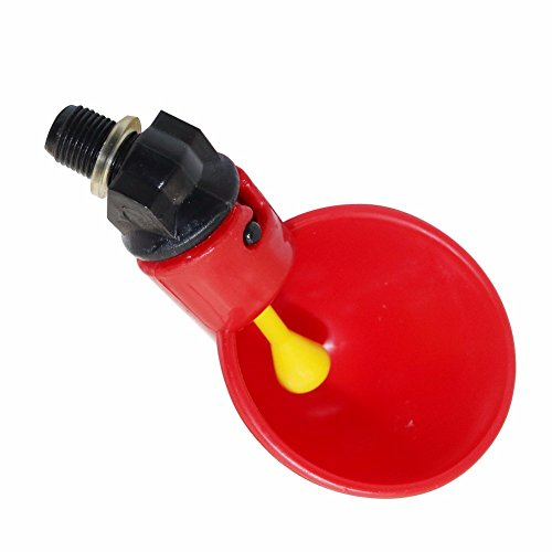 4 PCS Automatic Quail Drinker Chicken Waterer Bowl With Yellow Nipple Farm poultry drinking water system ()