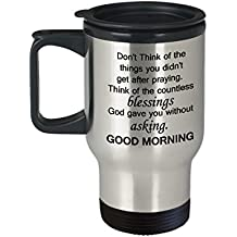 Good morning handsom mug - Good Morning Blessings - Morning Love Gifts - Porcelain Funny Travel Mug, Best Office Travel Mug & Coffee Cup Gifts 14 OZ