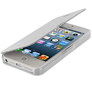 Accessory Planet(TM) White Smooth Magnetic Closing Wallet Pouch Case Cover Accessory for Apple iPhone 5 / 5S by lolosakes