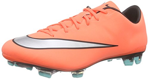 Nike Mercurial Vapor Orange - Nike Men's Mercurial Veloce Ii Fg Brightt Mango/Metallic Silver/TRQ Soccer Cleat 9