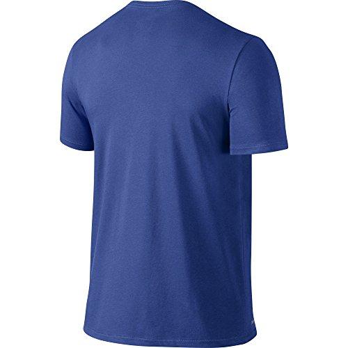 NIKE Men's Dri-FIT Cotton 2.0 Tee, Game Royal/Game Royal/White, Small by Nike (Image #2)