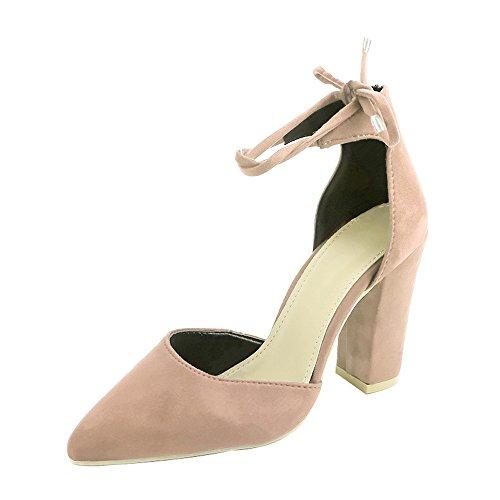 Pointu Heels Escarpins Sexy OverDose Femme Carrés Talons Sandales Kaki Hauts Chaussures Bout à High tFn6wTqUA