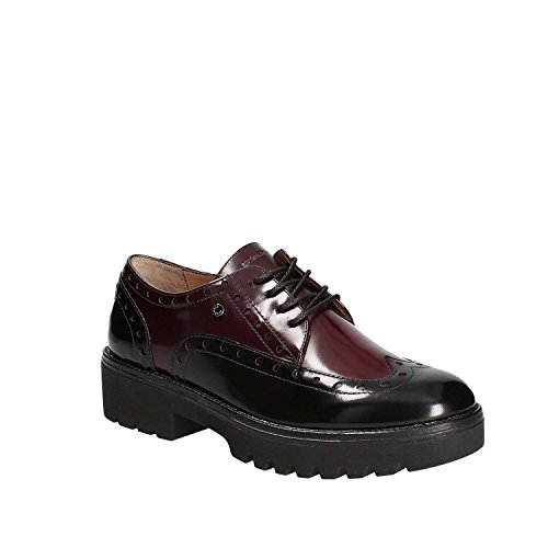 Oxford Wine Negro Mujer Off Perry Black 1a01 Brush de Zapatos Stonefly Cordones 2 para p0qwHa