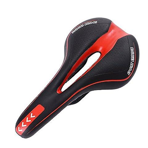 Ehonestbuy Bike Saddles Mountain Bike Seat - Professional Road MTB Gel Comfort Bicycle Seat Cycling Seat Cushion Pad (Wiggle Seat Red)