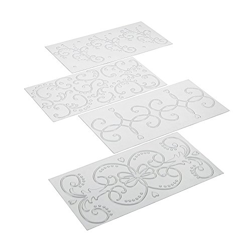 Cake Boss Decorating Tools 4-Piece Classic Fondant Imprint Mat Set, Clear image