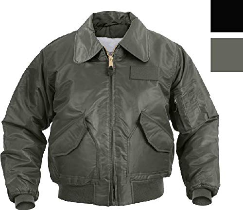 Jacket Air Force Flight Jacket Military CWU-45P Tactical Flyers Pilot Coat Bomber Get 1 Pcs (Medium, Black)