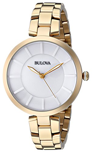 Bulova Women's 97L142 Analog Display Japanese Quartz Yellow Watch