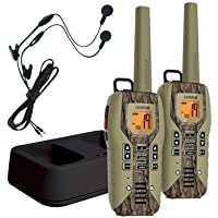 Uniden GMR5088-2CKHS Black Edition 50 Mile GMRS/FRS Two-Way Radio With Extra Long Battery Life, Emergency Strobe Light, NOAA Alert, Water Resistent, and Battery Strength Meter – CAMO