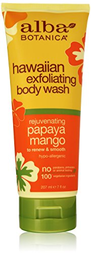 Alba Botanica Hawaiian, Papaya Mango Exfoliating Body Wash, 7 Ounce