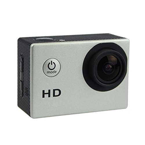 1080P Action Sports Camera -Self Timer,Tuscom Waterproof ( 30 Meters Under Water) Action Camera (2.0 Inch Ultra HD Screen)Camcorder HD 1080P Mini DV Cam+ Parts for Gopro (Silver)