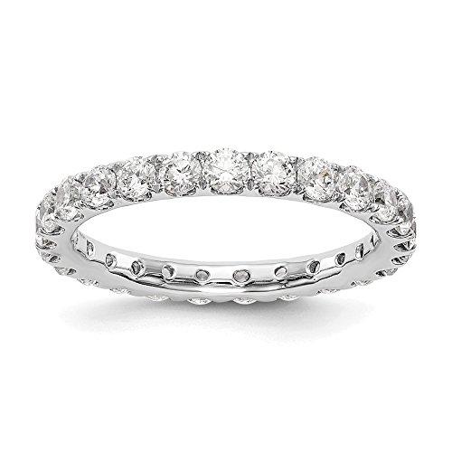 14k White Gold True Origin Lab-Grown Diamond Eternity Band Ring, VS/E- 1.495 cttw ()