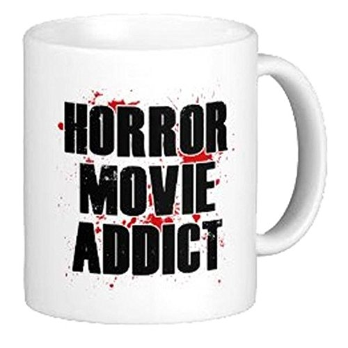 Horror Movie Addict Coffee Mug (11 oz) - Halloween Mug - Horror Movie Mug