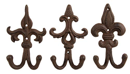 (Juvale Shabby Chic Ornate Iron Hook - Classic Wall Mounted Hook for Coat, Hat, Scarf - Set of 3)