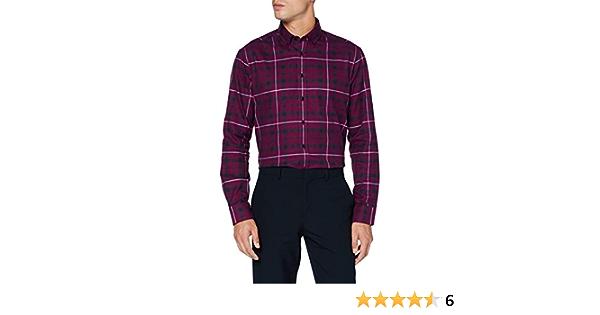 Seidensticker Regular Langarm Karo Flanell Camisa de Vestir ...