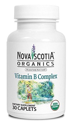 Organic Vitamin B Complex (30 Caplets); Organic; Vegan; Vegetarian; GMO Free; Thiamin; Riboflavin; Niacin; Vitamin B6; Folate; Vitamin B12; Pantothenic Acid;Guava, Holy Basil, Lemon Peel; Spirulina
