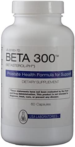 Beta 300 for Prostate Health and Prostate Support – Combine with Saw Palmetto – Triple The Power 300 milligrams Beta Sitosterol, Selenium, Zinc 60 Caps – 100 Natural Prostate Support Beta Prosturol